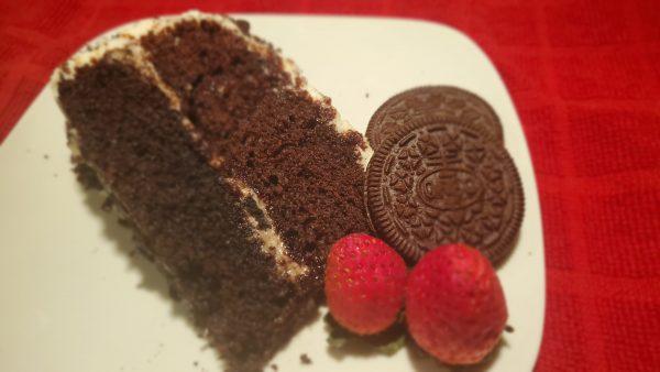 Cookie Loving Creme Cake - Slice